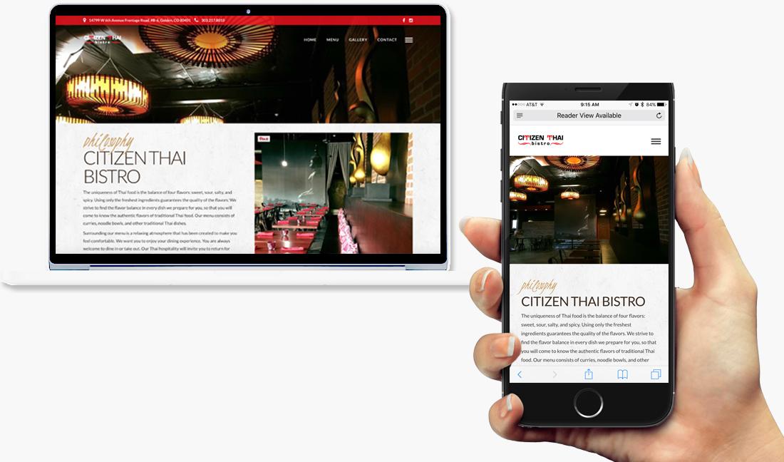 Citizen Thai Bistro Website